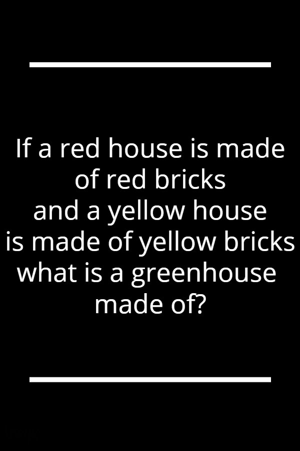 If a red house is made of red bricks and a yellow house is made of