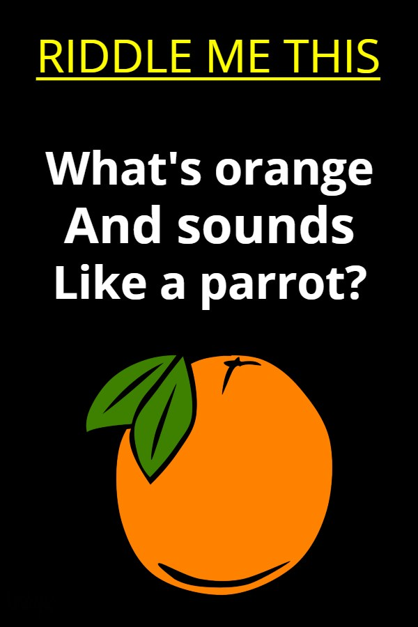 What's orange and sounds like a parrot riddle