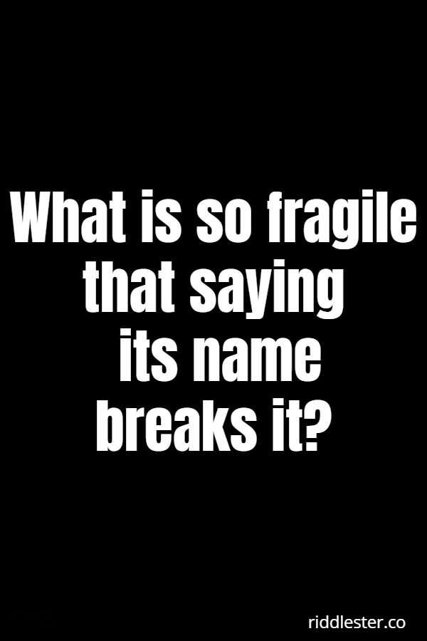 c riddle