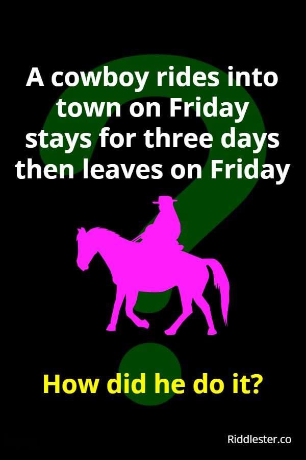 cowboy riddle