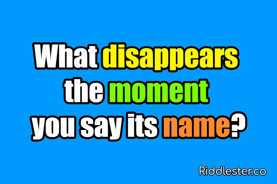 riddles disappears