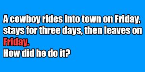 riddle friday