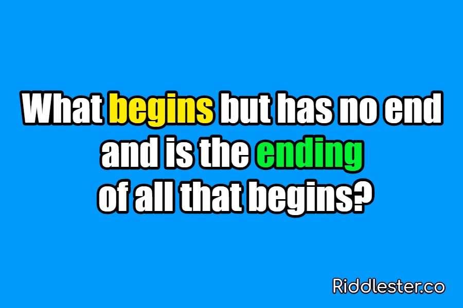 riddle begins
