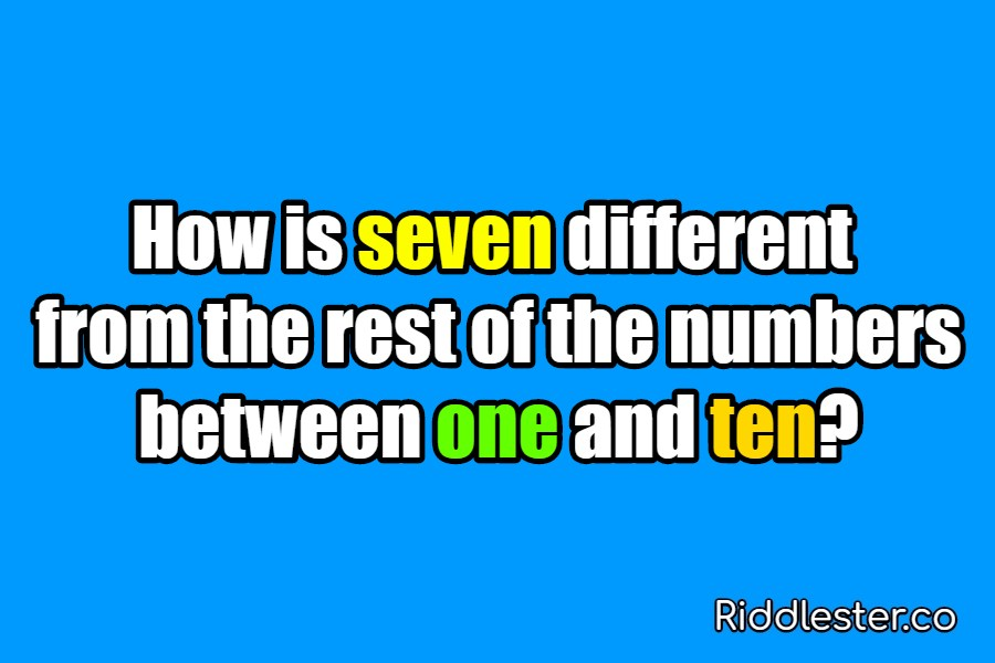 riddle seven