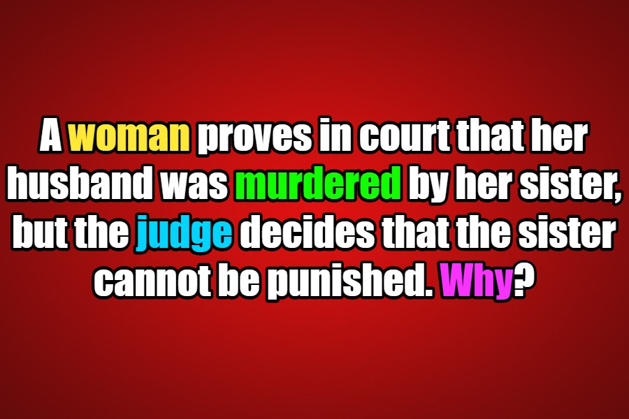 A woman was in court riddle