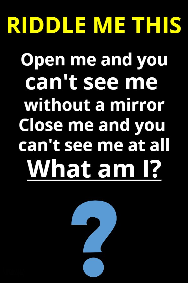 cant see riddle