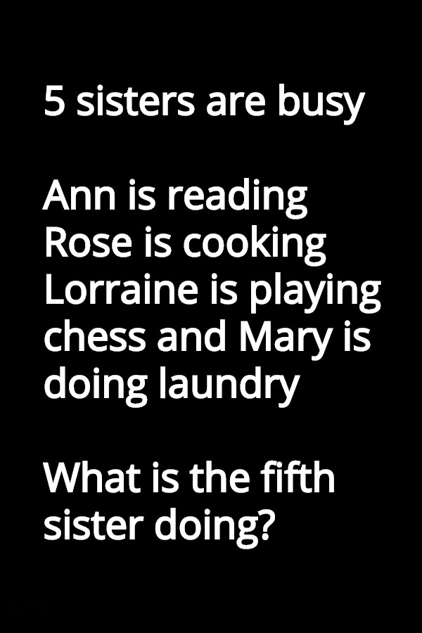 five sisters riddle answer