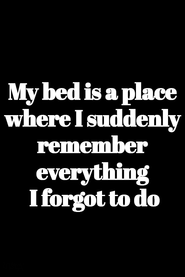 my bed is a place