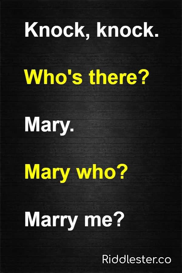 knock knock jokes mary