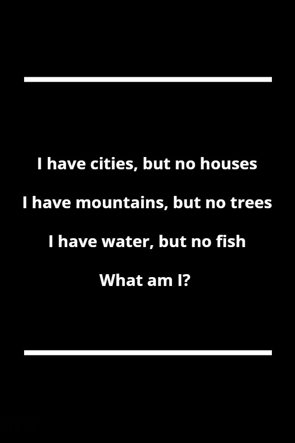I have cities but no houses I have mountains but