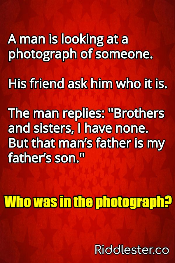 A man is looking at a photograph of someone His friend ask him who