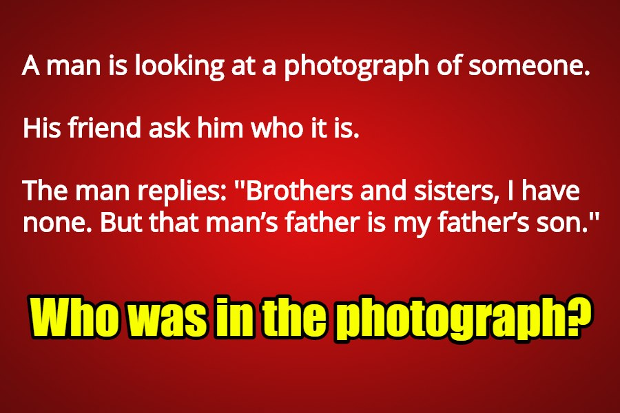 riddle the photograph