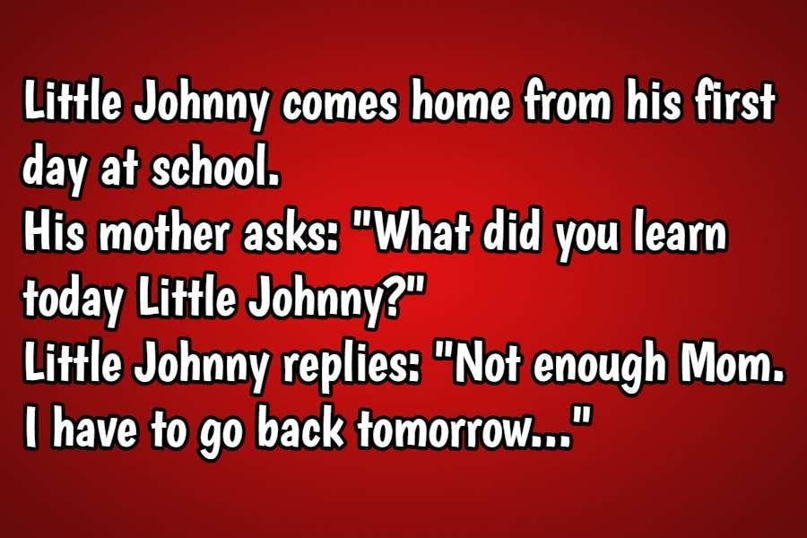 short little johnny jokes