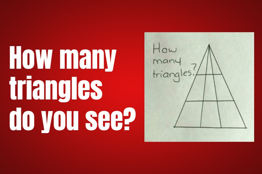 How many triangles do you see