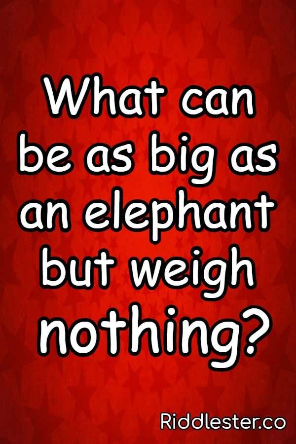 elephant riddle