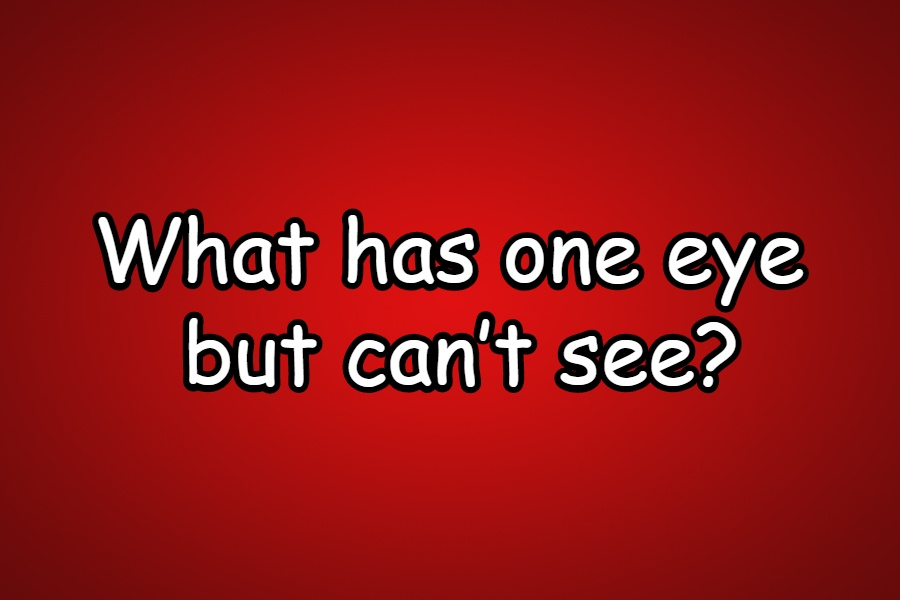 What has one eye but can't see riddle