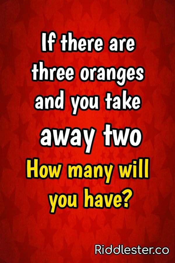 oranges riddle