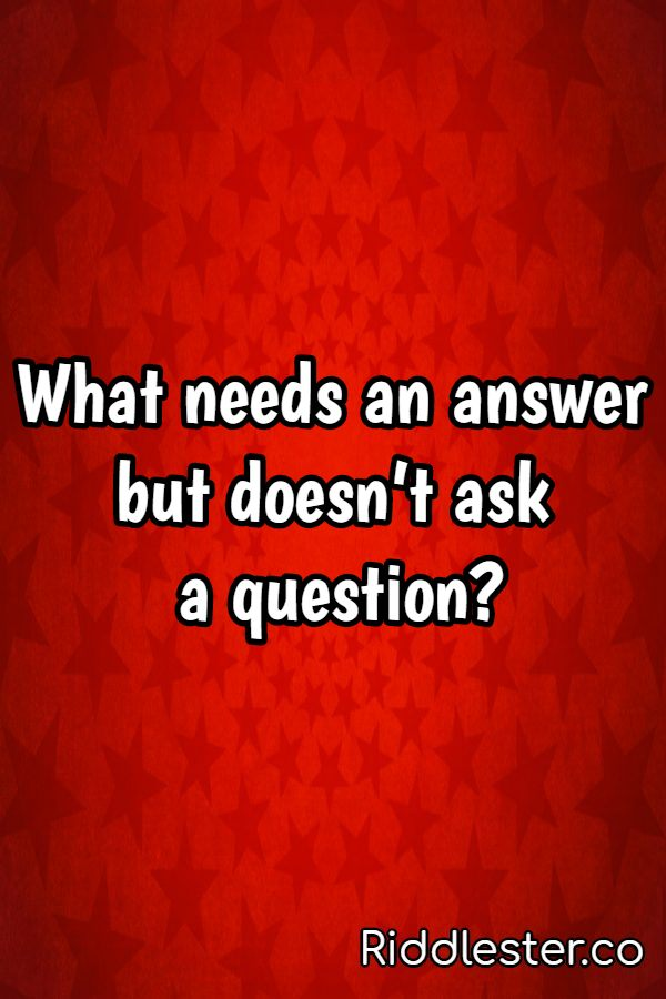 question riddle