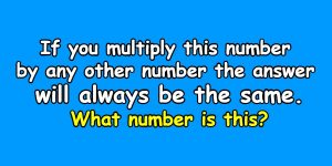 If you multiply this number by any other number the answer