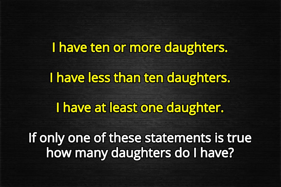 10 daughters riddle