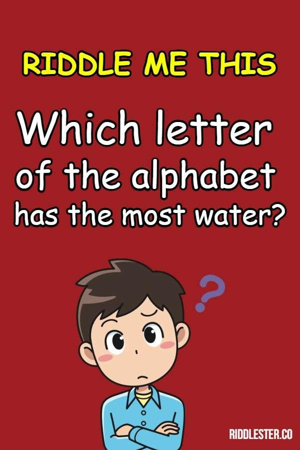 alphabet riddle