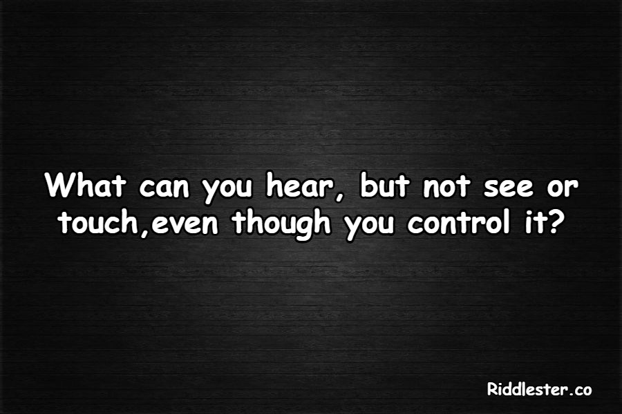 control it riddle