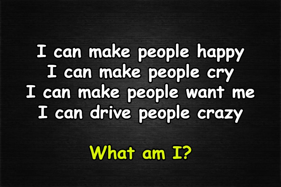 people happy riddle