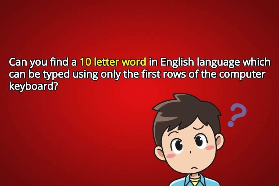 10 letter riddle