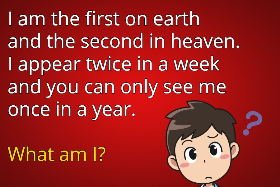 The first on earth riddle