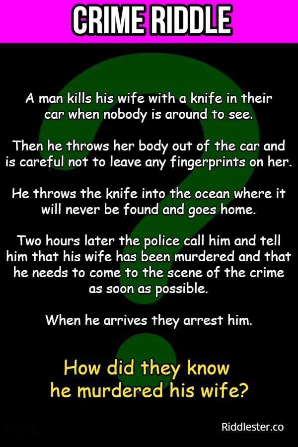 crime scene riddle