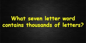 Thousand letter Riddle