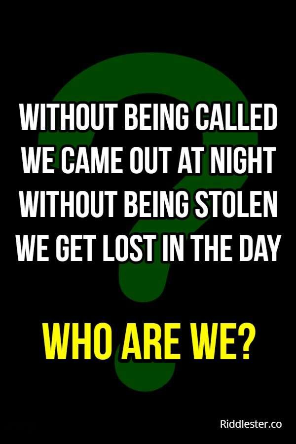 night riddle