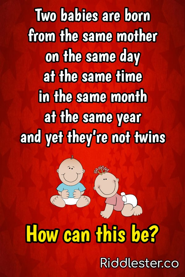 Born on the same day but not twins