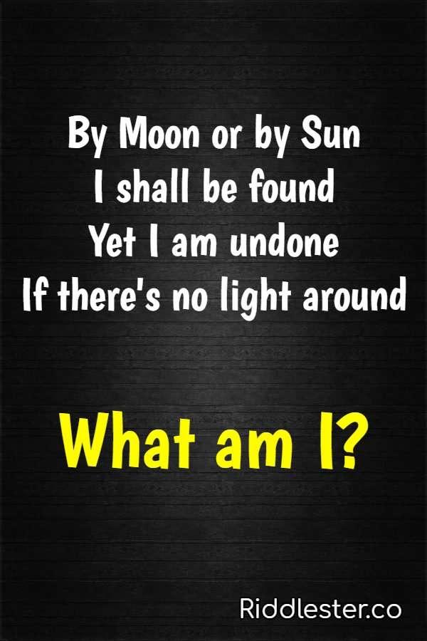 rhyme riddles