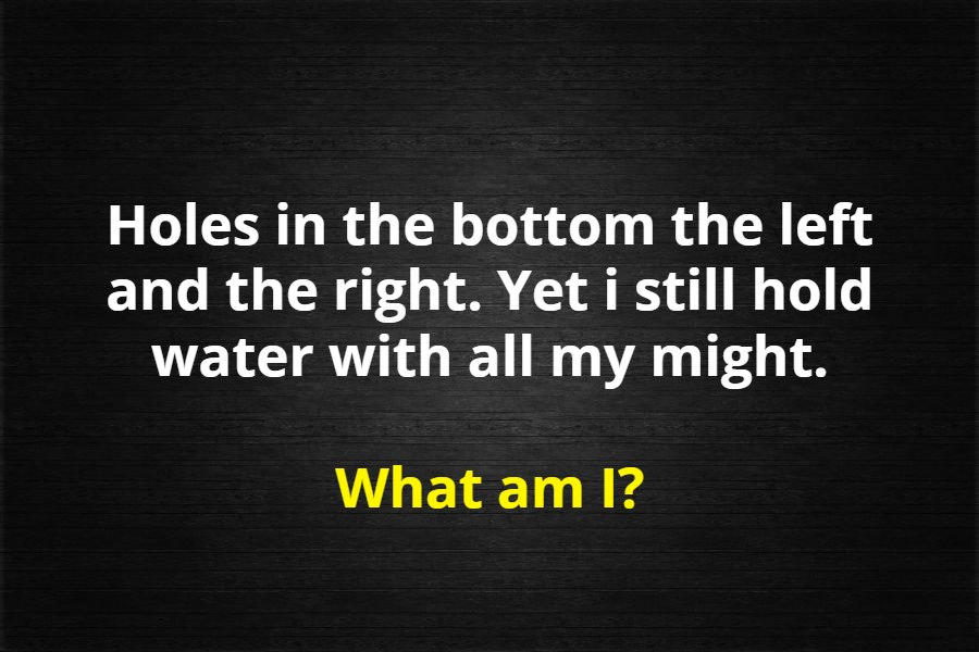 hole and water riddle