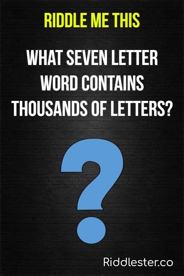 letter riddle