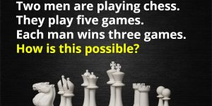 two men are playing chess riddle