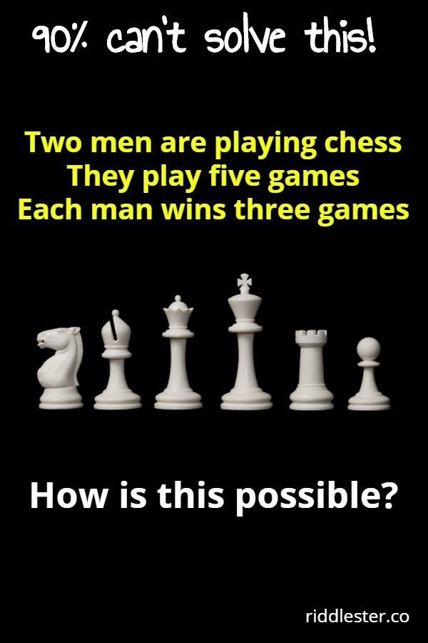 two men are playing chess