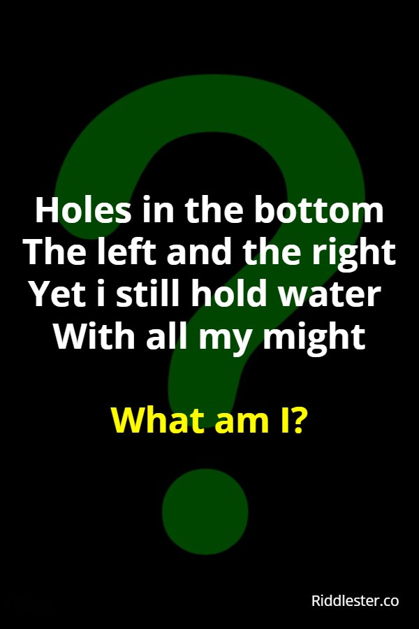 water riddle