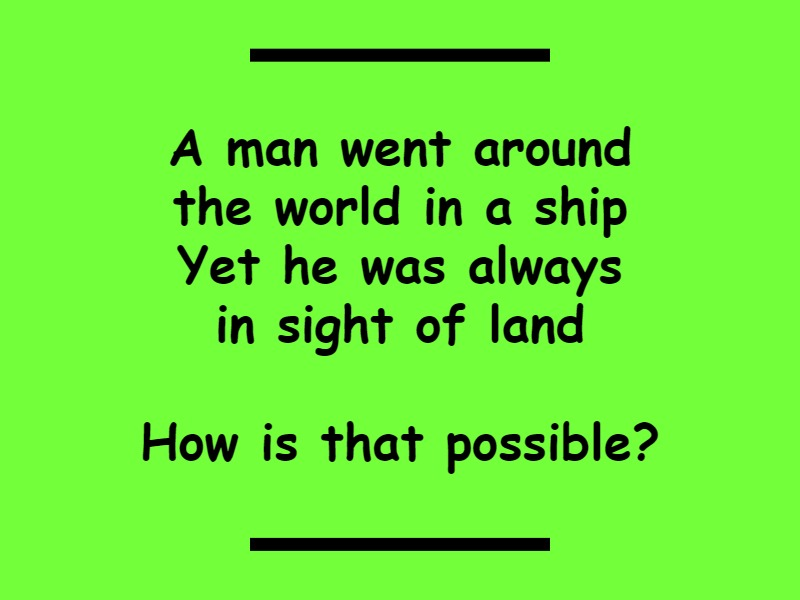around the world riddle