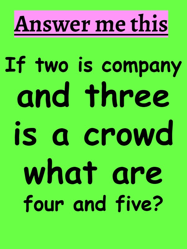 riddles with answer fun