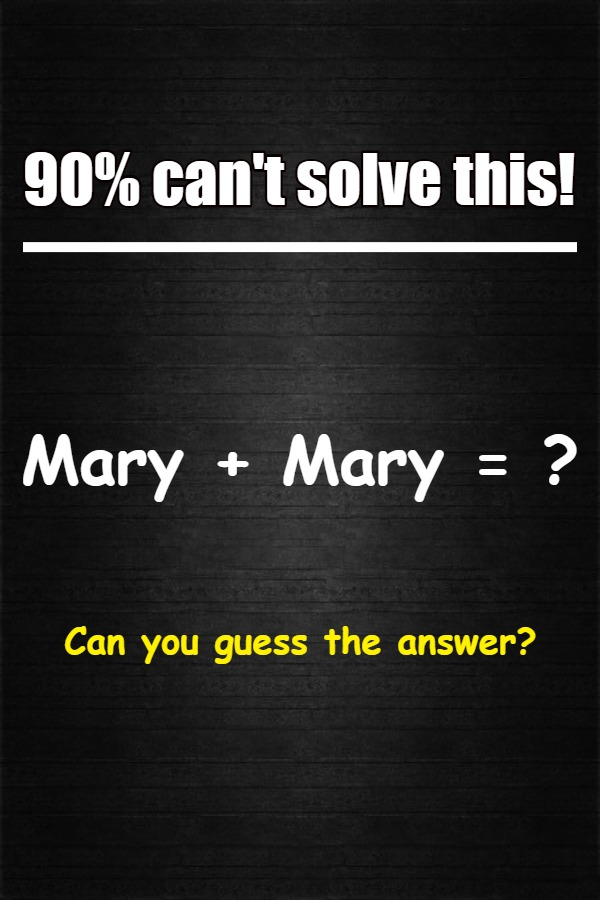 mary mary puzzle answer