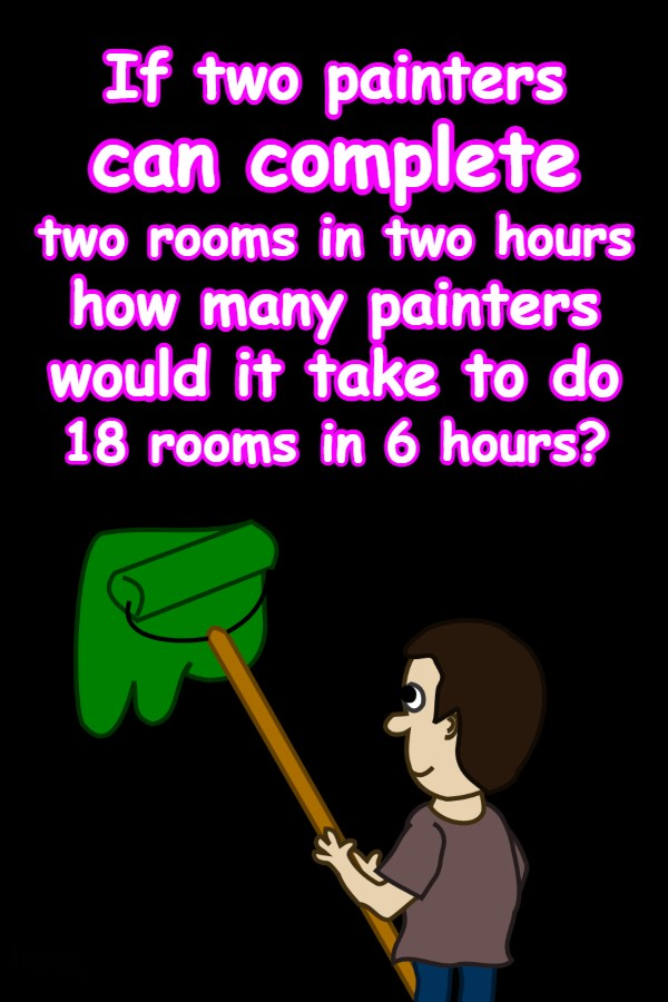 If two painters can complete two rooms
