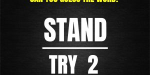 Try Stand 2 Puzzle answer