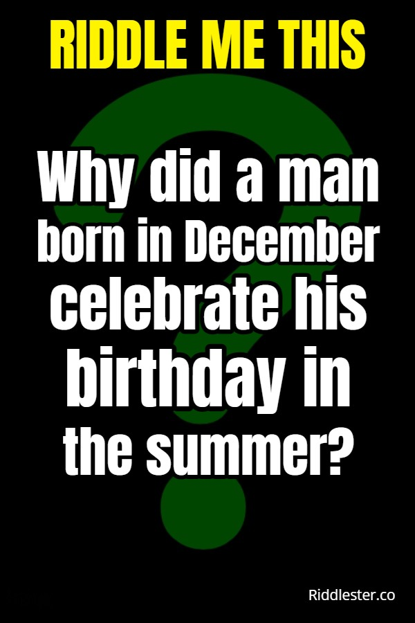riddle me this clever