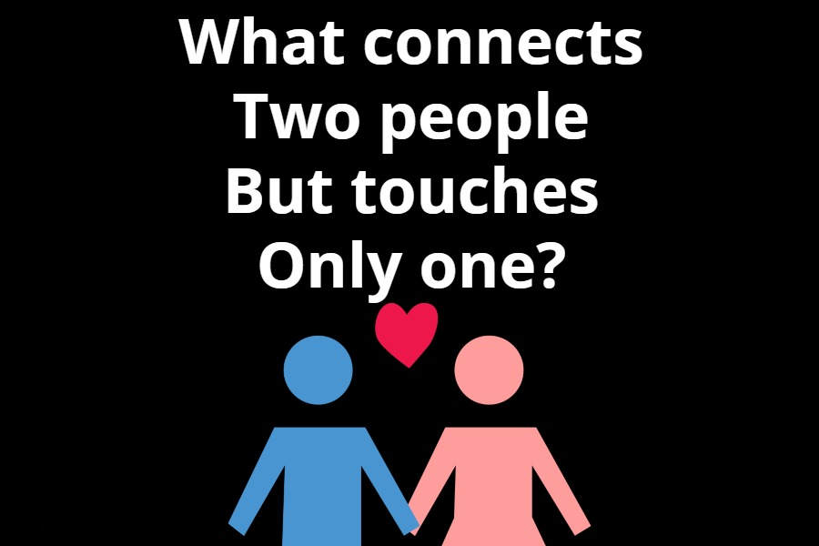 What connects two people but touches only one