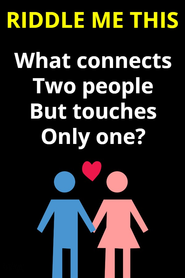 What connects two people but touches