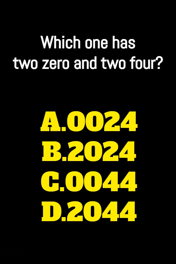 Which one has two zero and two four