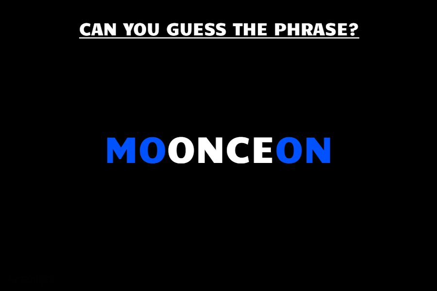 MOONCEON riddle answer